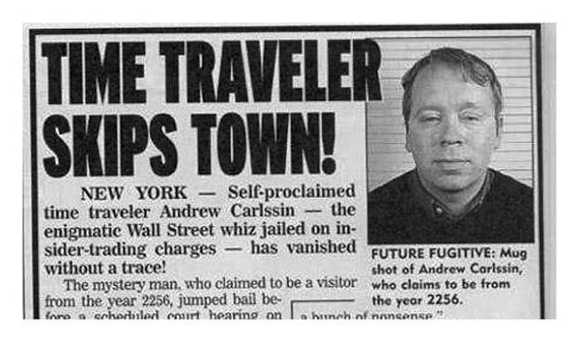 El extraño caso de Andrew Carlssin, un viajero del tiempo del año 2256