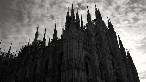 Uno dei più bei monumenti d'Italia e forse anche del mondo. Il Duomo di Milano.