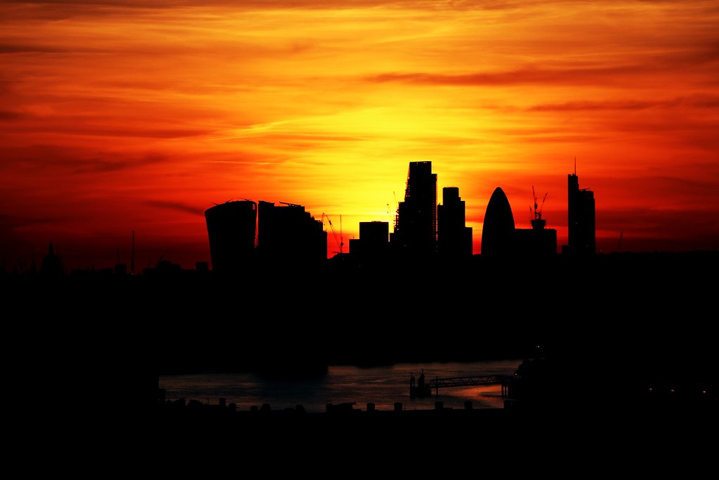 Sunset from Greenwich Park