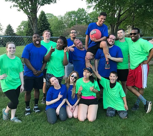 Last weeks office night, Kickball! #officefun #kickball #sillypic | by ncgincmarketing