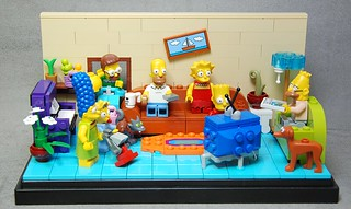 Lego Simpsons with LED Liteup TV | by _Pixeljunkie_