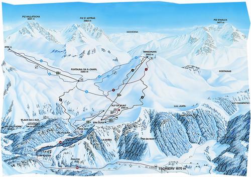 Minschuns - mapa zjezdoviek