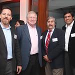 Andrés Cargill y George Cargill de Soluciones Orión; Jorge Canto y Claudio Pizarro, CIS Consultores