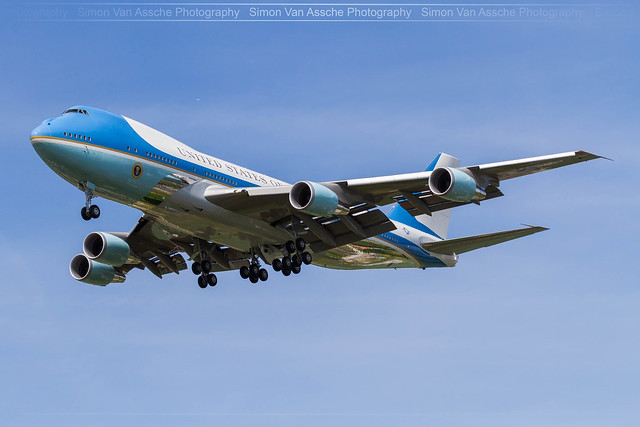 Air Force One VC-25A@ Brussels Airport!