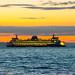 MV Wenatchee Against Puget Sound Sunset by AvgeekJoe