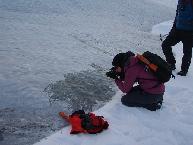 March 28, 2017 - Day 2 - Examining the glacial ice