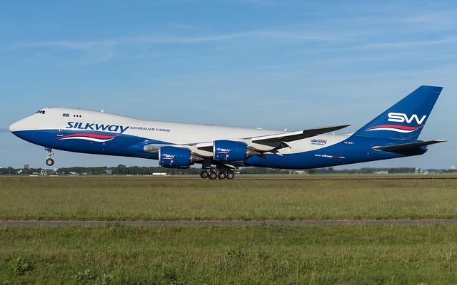 Silk Way Cargo / B748F / VQ-BWY / EHAM 36L