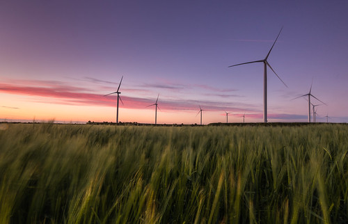 frodsham wind farm turbines monography cheshire helsby uk england rob pitt photography hill sky sunset graduated filter pink clouds field