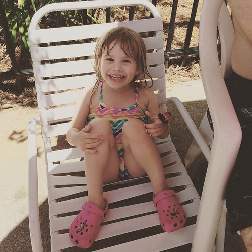 Lucy's party was yesterday, so we celebrated her actual birthday with a couple of hours at the pool with her cousins. | by poobou