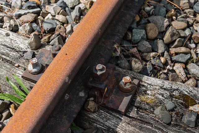 Rusty rail tracks