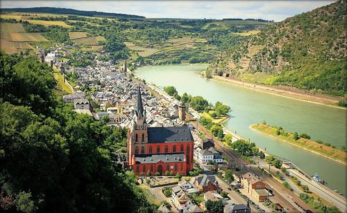 germany deutschland fortifications tours rhein vignes fleuve oberwesel rhénaniepalatinat valléedurhin églisegothique