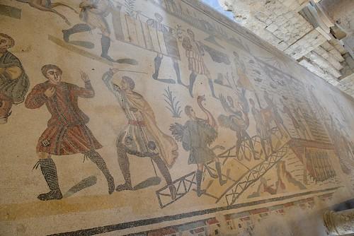 italy europe mosaics sicily romanremains villadelcasale piazzaarmerina archaeologicalsite