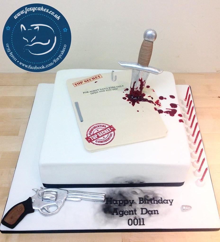 Fabulous Top Secret Cake Cake Foxycakeco Thefoxycakeco Birthday Spy Birthday Cards Printable Giouspongecafe Filternl
