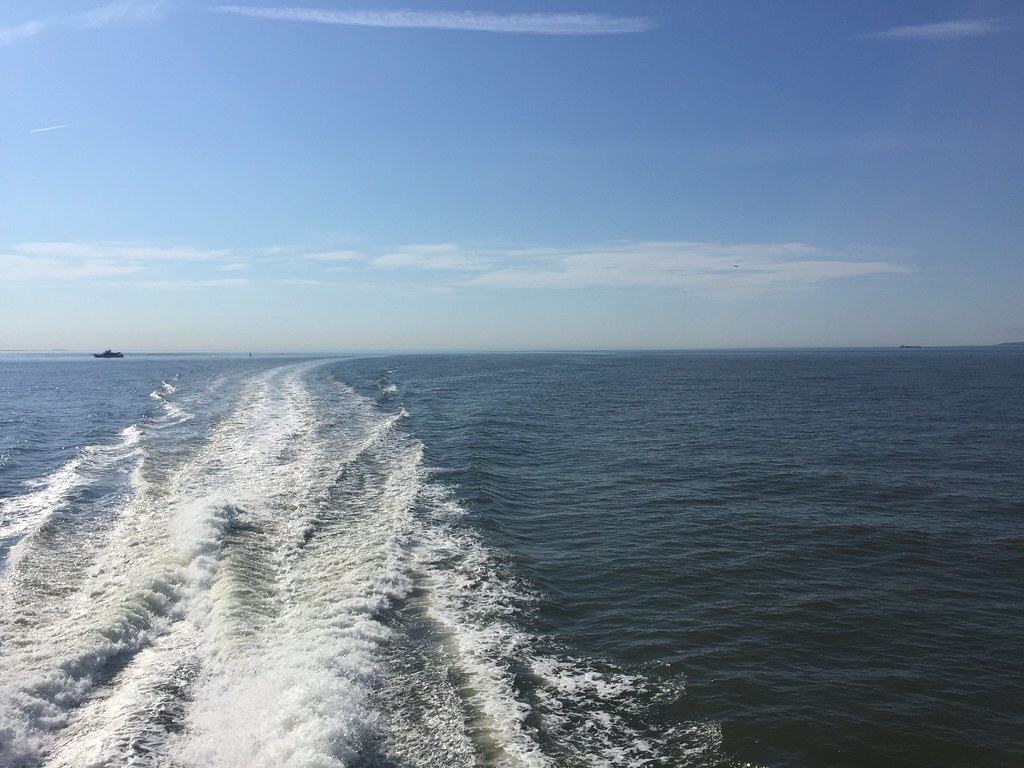 NYC Ferry Rockaway Line   Open water at the mouth of the Eas