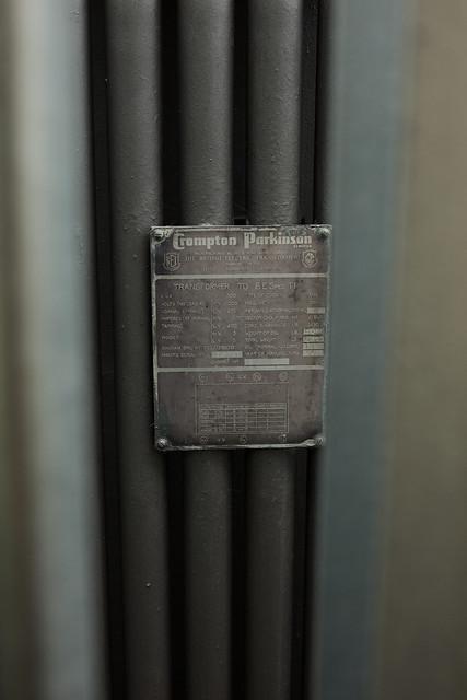 Crompton Parkinson Sub-Station Step Down Transformer......BUILT IN ?????.....1953 !!!