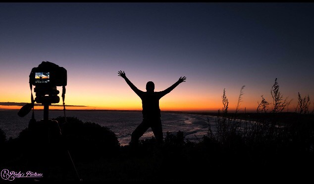 Chasing the sun and celebrate it with a friend taking a selfie..