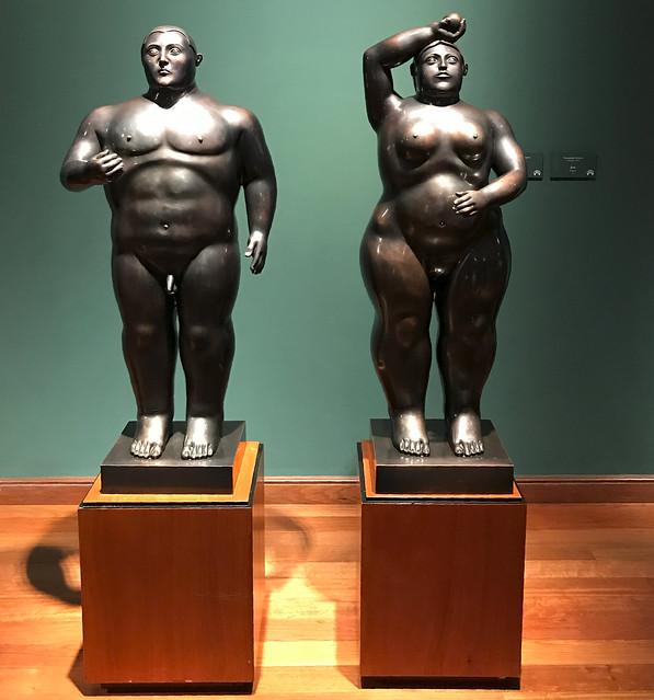 'Adán y Eve' by Fernando Botero, Museo Botero, Bogotá, Colômbia.