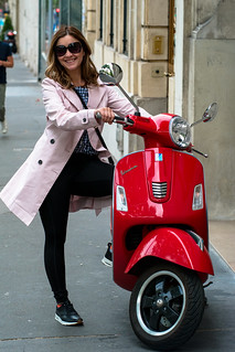 Deya with a Red Vespa in Paris | by nan palmero