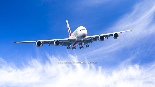 Emirates A380 Landing at Copenhagen Airport