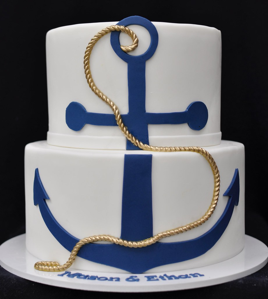 Awe Inspiring Anchor Birthday Cake Jenny Wenny Flickr Funny Birthday Cards Online Alyptdamsfinfo