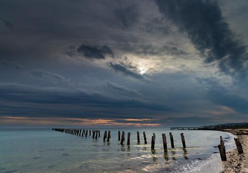 cliftonsprings shaunthomson clouds ocean pier seascape sunrise water bellarine
