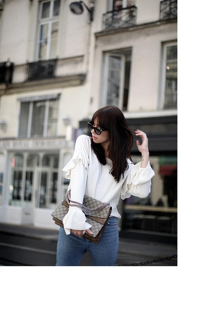 quality design ba22a 16d40 outfit paris summer sommer strickpullover zara weiß slingb ...