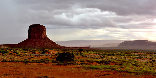 Before Storming Out Monument Valley, Arizona-Utah