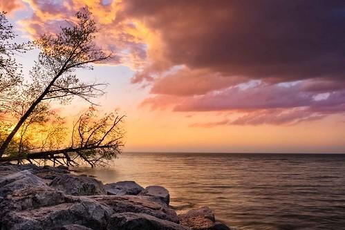 canada hamilton lakeontario landscape ontario winona fiftypoint lake lakeshore nature seascape spring sunset ortbaldaufcom