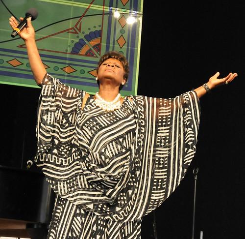 Irma Thomas Gospel Tent set at Jazz Fest 2017. Photo by Black Mold.