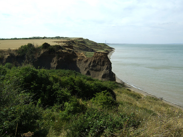 The coast near Eastchurch on the Isle of Sheppey