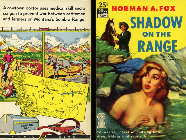 Dell Books 539 - Norman A. Fox - Shadow on the Range (with mapback)