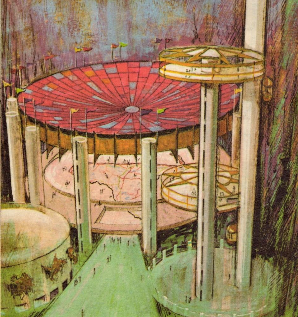 1964 / 1965 New York World's Fair Texaco Map exhibit | Flickr  World S Fair Map on