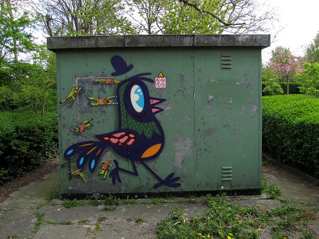Buë the Warrior & Jaune - the Crystal Ship - street art festival - Ostend - Belgium