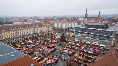 Dresdner Striezelmarkt from Above | by HansPermana