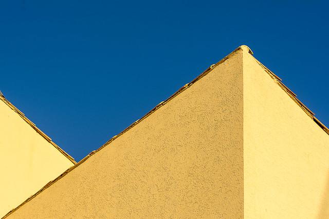 Yellow building, blue sky