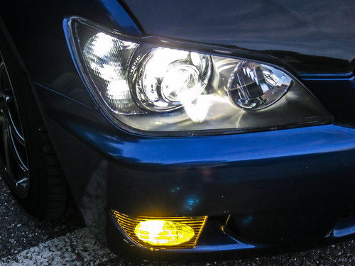 IS300 Projector Retrofit Headlights Close 2 | by gold94corolla