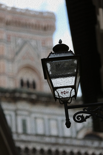 Lamp by the Golden Door at the Duomo in Firenze