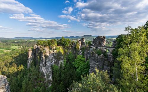 21sunset 52thingsiwanttophotographin2017 52of2017 bastei elbsandsteingebirge germany landscape nikond7100 robertgraser blue clouds saxoniaswiss summer sun rathen sachsen deutschland de