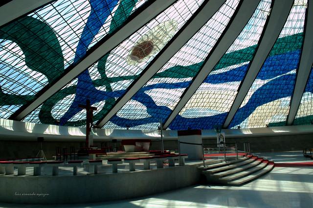Interior Catedral de Brasilia.