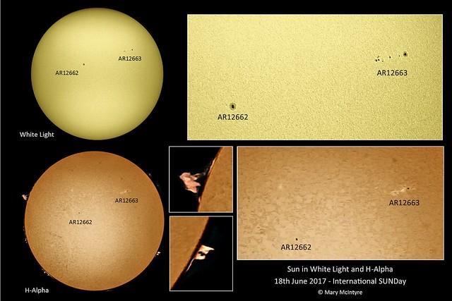 Sun in White Light & H-alpha 18th June '17 - International SUNday
