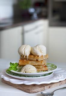 waffle & Ice cream