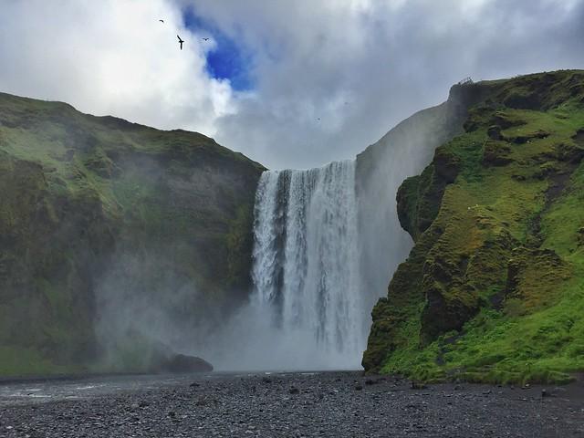 Cascada Skogafoss, una de las más bellas del sur de Islandia