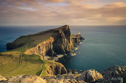 scotland ecosse isleofskye skye sunset lighthouse