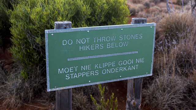 Sign at Camdeboo National Park