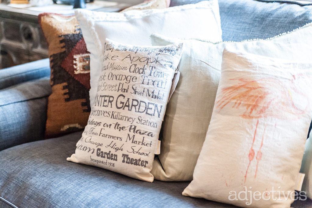 Decorative Pillows in Winter Garden