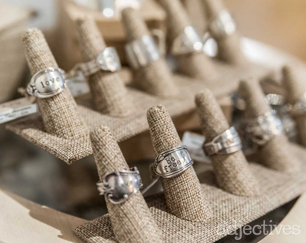 Handmade rings made from spoons in Winter Park by Via Francesca