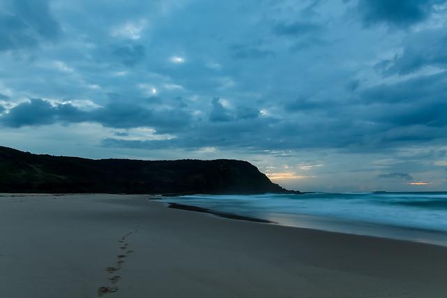 Cloudy Daybreak Seascape