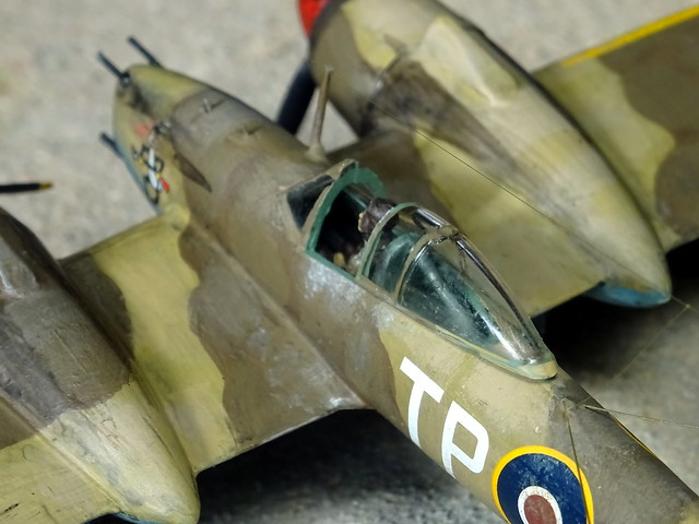"""1:72 Westland Whirlwind Mk. Ic, """"TP-Q""""/AS648 of Royal Air Force (RAF) No. 73 Squadron, El-Alamein area/Northern Africa, summer 1942 (Whif/modified Airfix kit)"""