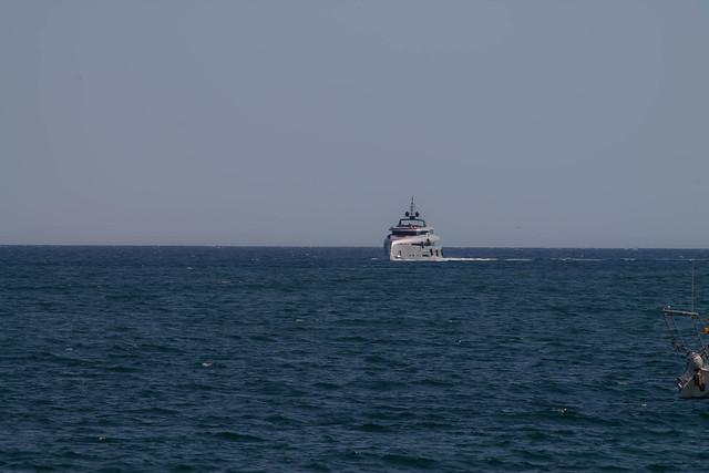 Futuristic yacht at Port de Palma