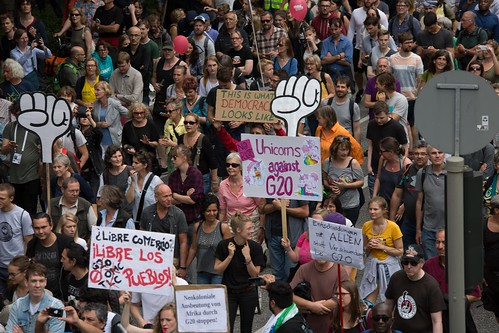 Solidarity without borders instead G20 –Demonstration Hamburg 2017 | by Rasande Tyskar